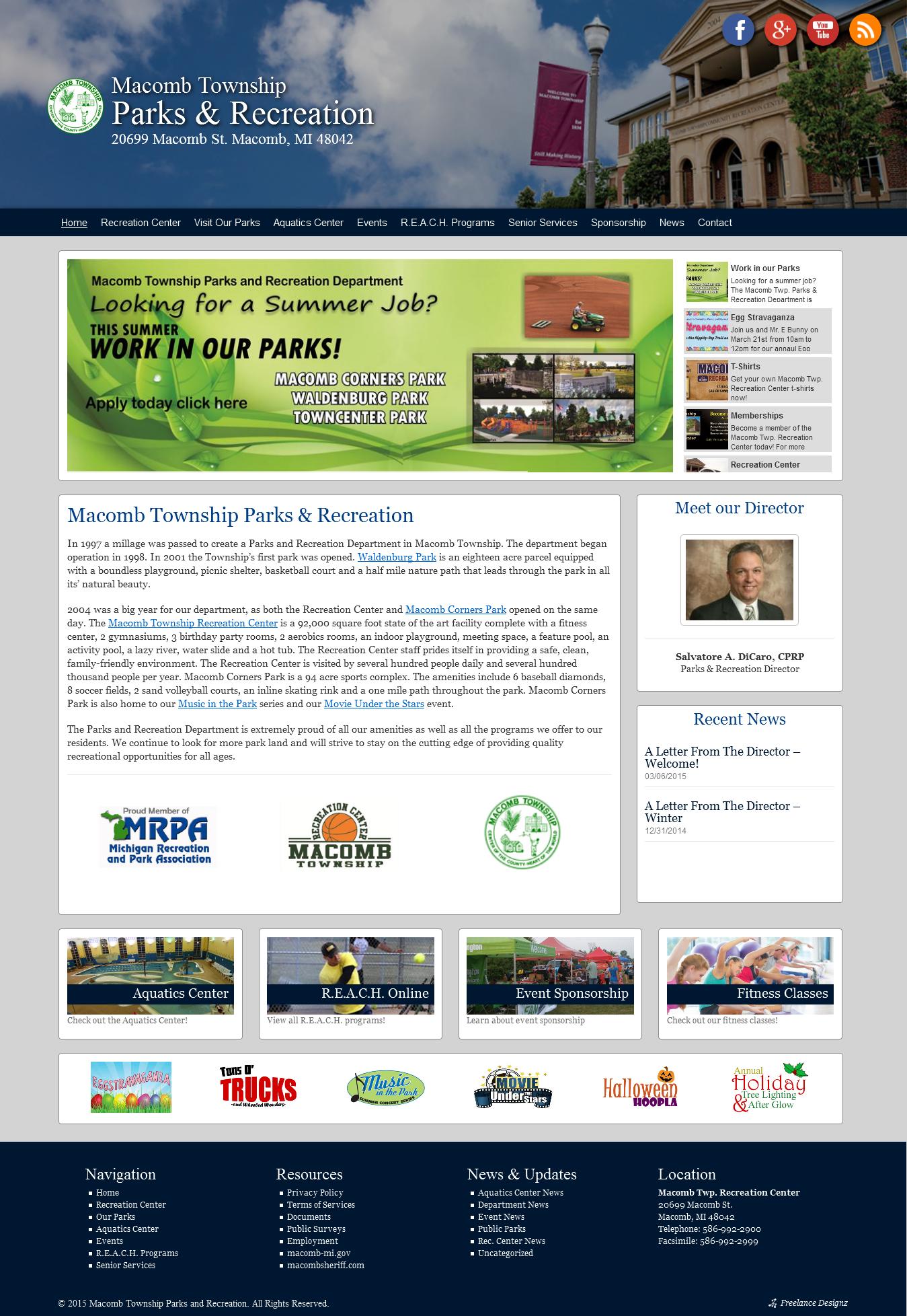 Macomb Township Parks & Rec – GOMTPR.ORG