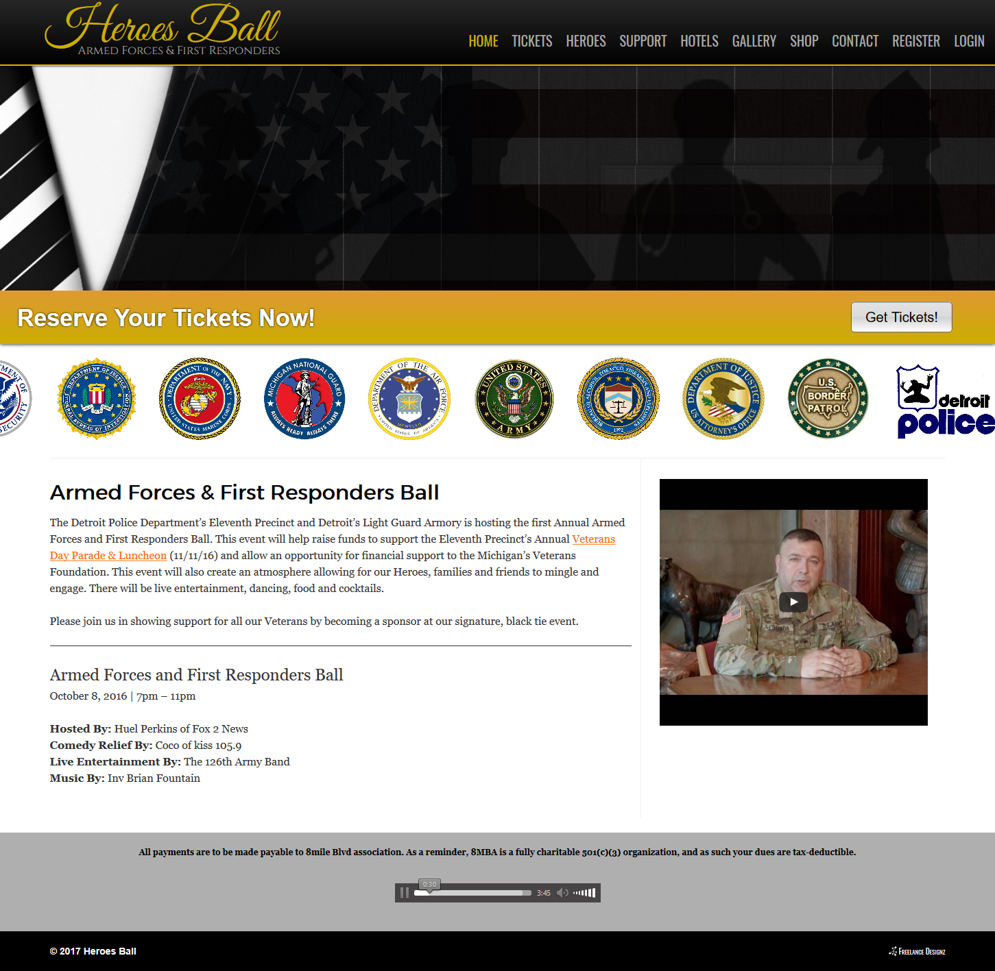 Armed Forces & First Responder's Heroes Ball